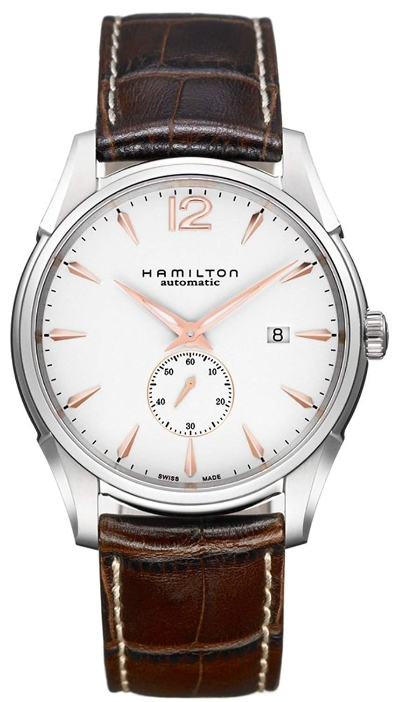Hamilton Herren-Armbanduhr XL Analog Quarz Leder H38511733