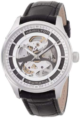 Hamilton Herren-Armbanduhr 43mm Armband Leder Schwarz Gehaeuse Edelstahl Automatik Analog H42555751