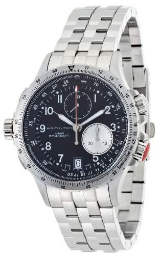Hamilton Herren-Armbanduhr XL Analog Quarz Leder H68411533