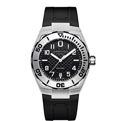 Hamilton Herren-Armbanduhr XL Analog Automatik Kautschuk H78615335