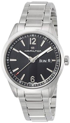 Uhr Hamilton Broadway h43311135 Quarz Batterie Stahl Quandrante schwarz Armband Stahl