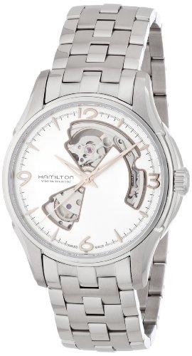 Hamilton Mens H32565155 Jazzmaster Open Heart Silver Watch