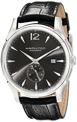 Hamilton Herren H38655785 Jazzmaster Slim Petite Seconde Schwarz Zifferblatt