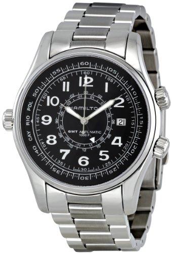 Hamilton Herren Armbanduhr XL Analog Digital Quarz Edelstahl H64554131