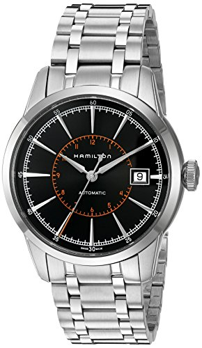 Hamilton Herren Armbanduhr 40mm Armband Edelstahl Gehaeuse Schweizer Automatik Analog H40555131