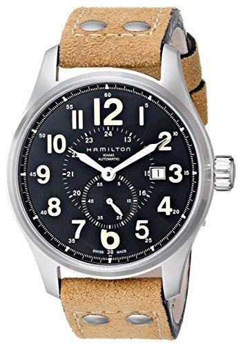 Hamilton Herren H70655733 Khaki Offizier GMT Uhr