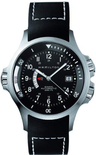 HAMILTON Herren Uhren KHAKI NAVY GMT Ref H77 615 333