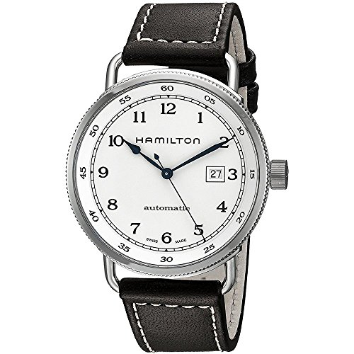Hamilton Khaki Navy Pioneer Leder Automatische Herren Armbanduhr h77715553
