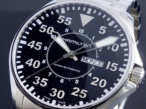 Uhr Hamilton Herren H64715135 Schalter Stahl Quandrante schwarz Armband Stahl