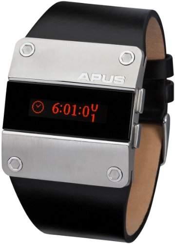 APUS Alpha Red Pulse AP-AH-SW-RT-SL-L OLED Uhr für Herren 2 Zeitzone