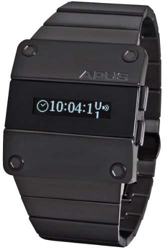 APUS Beta Solid White AP-BT-WT-BK-I OLED Uhr für Herren 2 Zeitzone