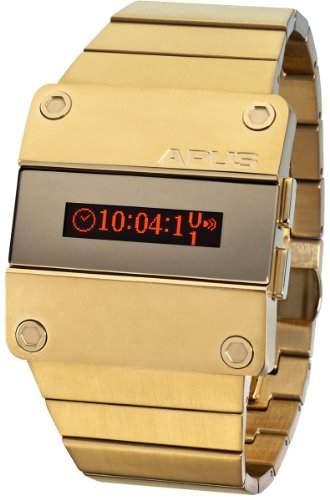 APUS Beta Red Desire AP-BT-RD-GD-K OLED Uhr fuer Herren 2 Zeitzone