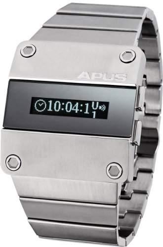 APUS Beta Steel Attraction OLED Uhr für Ihn 2 Zeitzone