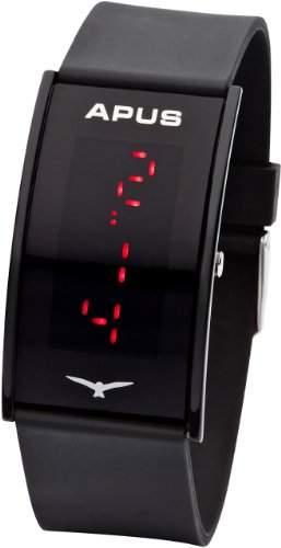 APUS Gamma Black Red AS-Ga-BR LED Uhr Sehr leicht