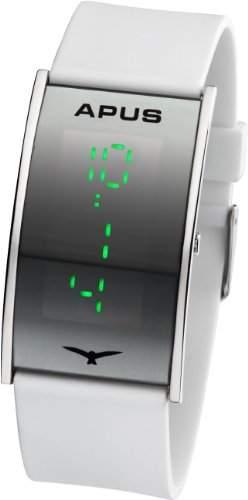 APUS Gamma Silver White Green AS-GA-SWG LED Uhr Sehr leicht