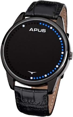 APUS Theta Black Blue White AS-TT-BBW LED Uhr für Herren Analoge Zeitanzeige