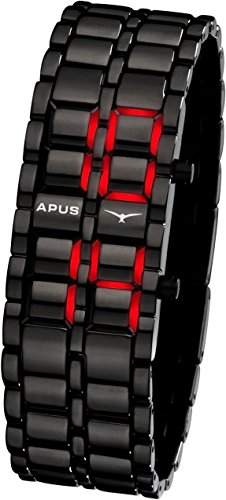 APUS Zeta Black Red AS-ZT-BR LED Uhr für Herren Design Highlight