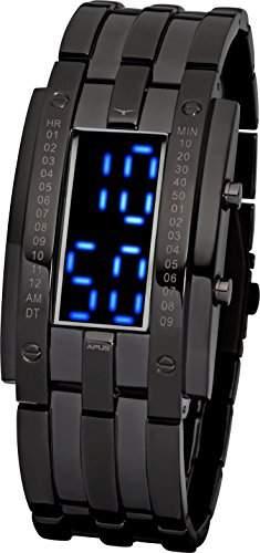 APUS TETA Gunmetal Blue AS-TT-BB LED Uhr für Herren Massives Gehäuse