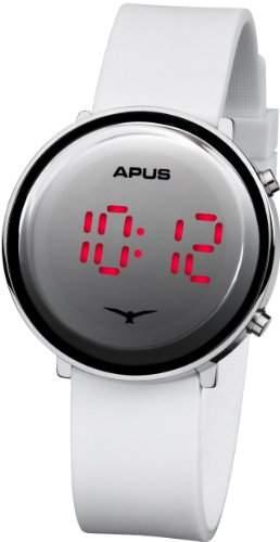 APUS Tau Silver White Red AS-Tau-SlWhRd LED Uhr Sehr leicht