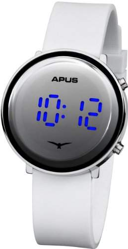 APUS Tau Silver White Blue AS-Tau-SlWhBu LED Uhr Sehr leicht