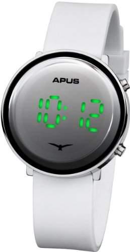 APUS Tau Silver White Green AS-Tau-SlWhGr LED Uhr Sehr leicht