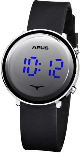 APUS Tau Silver Blue As-Tau-SlBlBu LED Uhr Sehr leicht