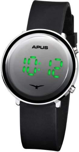 APUS Tau Silver Green AS-Tau-SlBlGr LED Uhr Sehr leicht