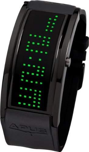 APUS Iota AS-IO-BL-GR Digitaluhr für Herren Programmierbare Laufschrift