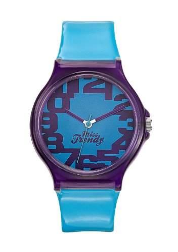Miss Trendy KL - 269 Maedchen-Armbanduhr Analog Kunststoff, blau