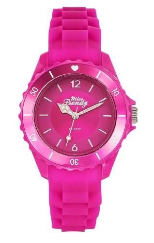 Miss Trendy 310 KL-Maedchen-Armbanduhr Analog Silikon, Rosa