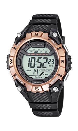 Calypso Unisex Armbanduhr Digitaluhr mit LCD Zifferblatt Digital Display und schwarz Kunststoff Gurt k5683 2