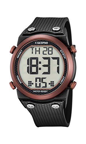 Calypso Unisex Armbanduhr Digitaluhr mit LCD Zifferblatt Digital Display und schwarz Kunststoff Gurt k5705 3