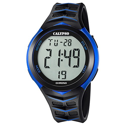 Calypso Armbanduhr fuer Herren Fashion Digital for Man K5730 5 PU Armband schwarz Quarz Uhr UK5730 5