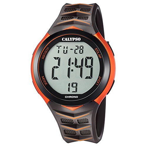 Calypso Armbanduhr fuer Herren Fashion Digital for Man K5730 6 PU Armband schwarz Quarz Uhr UK5730 6