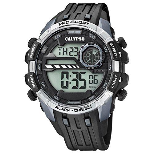 Calypso Armbanduhr fuer Herren Sport Digital for Man K5729 1 PU Armband schwarz Quarz Uhr UK5729 1