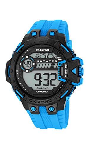 Calypso Herren Digitale Armbanduhr mit LCD Dial Digital Display und Tuerkis Kunststoff Gurt k5696 2