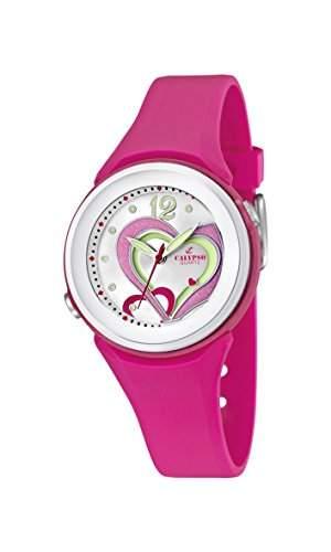 Calypso watches Maedchen-Armbanduhr Analog Kautschuk K55765