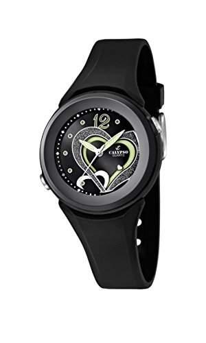 Calypso watches Maedchen-Armbanduhr Analog Kautschuk K55766