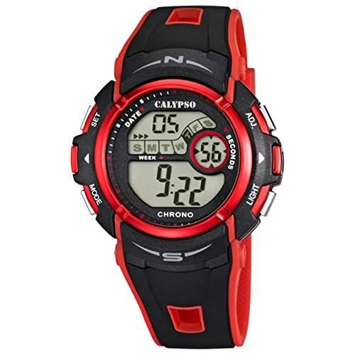 Calypso Chronograph Unisex rot-schwarz Digital Uhren UK56105