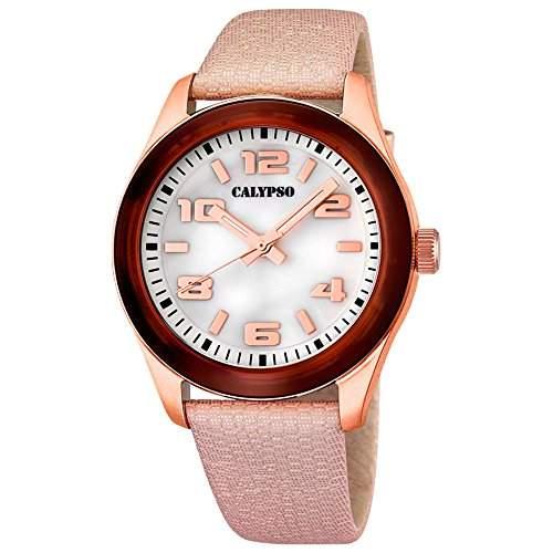 CALYPSO Damen-Uhr - Trend - Analog - Quarz - Leder - UK56533