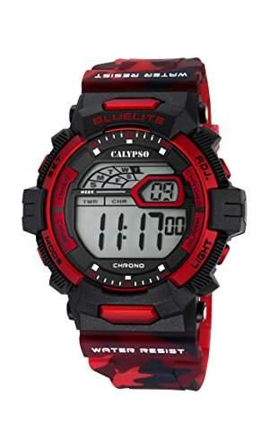 Calypso Herren Digitale Armbanduhr mit LCD Dial Digital Display und Kunststoff-Gurt k56936