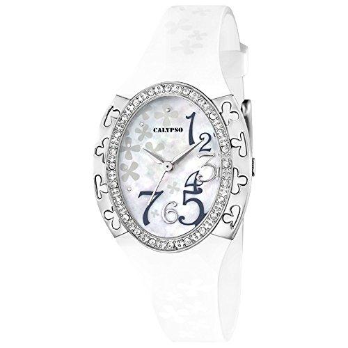 ORIGINAL CALYPSO Uhren by FESTINA Damen Quarz Uhrzeit Perlmutt k5642 1