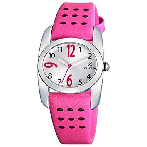 Calypso Jugenduhr Maedchen pink-silber Analog Calypso Uhren UK51953