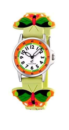Calypso Uhr Kinderuhr Unisex Schmetterling Analog Calypso Uhren Kollektion UK52345