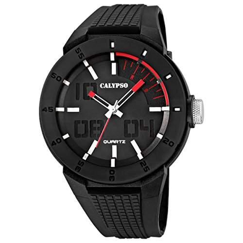 Calypso Herrenuhr PVD schwarz-schwarz Analog Uhren Kollektion UK56292