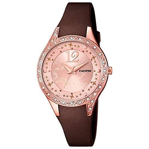 CALYPSO Damen-Uhr - Trend - Analog - Quarz - PU - UK56603