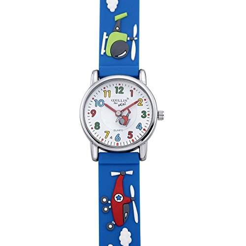 VIKI LYNN blau Kinder Armband Uhr mit Gummi Armband