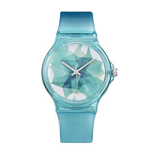 VIKI LYNN Kinder Uhren Single Style mehrfarbige Gummiband runden Zifferblatt