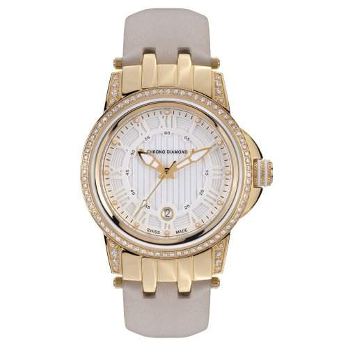 Chrono Diamond Damenuhr Dionne Gold IP