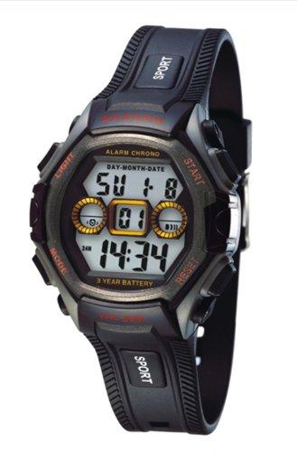 PASNEW Digital Wasserdicht 30 Multifunktions Herren Sport Armbanduhr N6